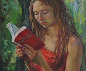 Читающая. Портрет Даши