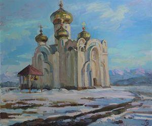 Бишкек. Собор зимой